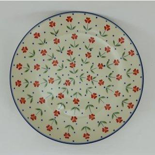 B-Ware Bunzlauer Keramik  flacher Teller, Speiseteller, ø 26cm (T132-AC61)