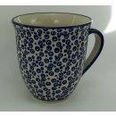 B-Ware Bunzlauer Keramik Tasse MARS Maxi - blau/weiß - 0,43Liter (K106-MAGD)