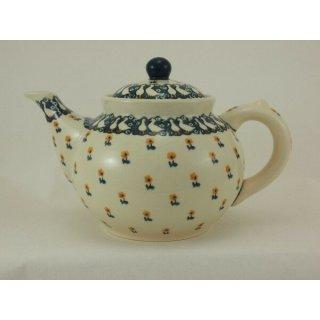B-Ware Bunzlauer Keramik Teekanne, Kanne für 1,3Liter Tee, Gänse (C017-P322)