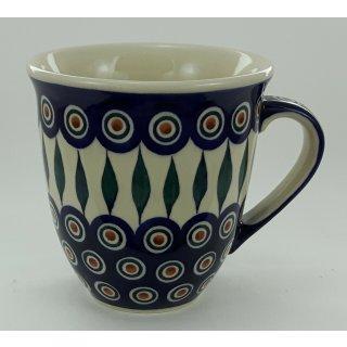 B-Ware Bunzlauer Keramik Tasse MARS Maxi - Becher, blau/weiß/grün - 0,43 Ltr. (K106-54)