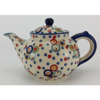 B-Ware Bunzlauer Keramik Teekanne, für 1,3Liter Tee, (C017-AS38) UNIKAT / Modern