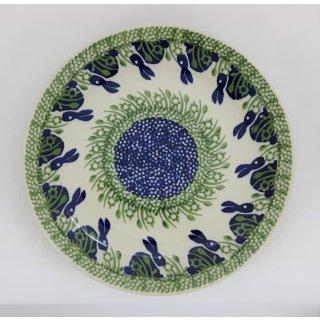 B-Ware Bunzlauer Keramik Teller, Essteller, Kuchenteller, Frühstück, ø 22cm (T134-P324)