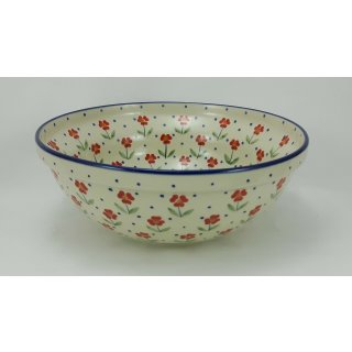 B-Ware Bunzlauer Keramik Schale MISKA, Schüssel, Salat, ø24cm, (M092-AC61)