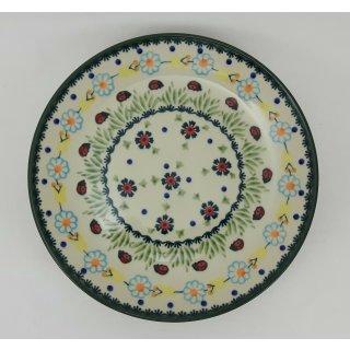 B-Ware Bunzlauer Keramik Teller, Kuchenteller, Frühstück, ø 22cm (T134-IF45)