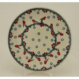 B-Ware Bunzlauer Keramik Teller, Essteller, Kuchenteller, Frühstück, ø 22cm (T134-GILE)