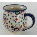 B-Ware Bunzlauer Keramik Tasse BÖHMISCH MAXI Becher (K068-AS38) - UNIKAT - 0,45Liter