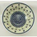 B-Ware Bunzlauer Keramik Schale MISKA, Schüssel, Salat, ø24cm, (M092-ASS), Blumen