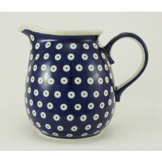 B-Ware Bunzlauer Keramik Krug, Blumenvase,  Kanne, Milchkrug, 1,4Liter, (D040-70A)
