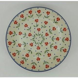 B-Ware Bunzlauer Keramik Teller, Essteller, Kuchenteller, Frühstück, ø 22cm (T134-AC61)