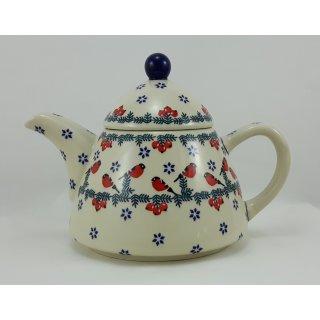 B-Ware Bunzlauer Keramik Teekanne spitz, Kanne für 0,9Ltr. Tee  (C005-GILE)