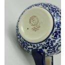 B-Ware Bunzlauer Keramik Tasse BÖHMISCH MAXI, Becher, blau/weiß; 0,45 Liter (K068-P364)