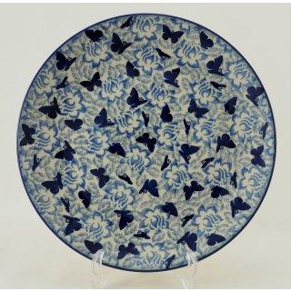 B-Ware Bunzlauer Keramik  flacher Teller, Essteller, Speiseteller, ø 26cm, UNIKAT (T132-AS56)