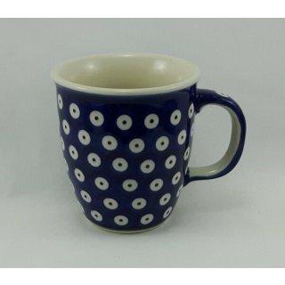 B-Ware Bunzlauer Keramik Tasse MARS blau/weiß - 0,3 Liter, K081-70A, Punkte