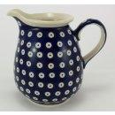 B-Ware Bunzlauer Keramik Krug; Blumenvase; Milchkrug; 0,9Liter, (D041-70A)