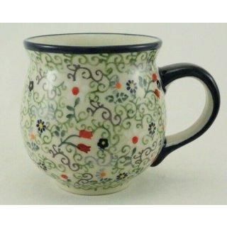 B-Ware Bunzlauer Keramik Tasse BÖHMISCH MAXI Becher (K068-EO36) - UNIKAT - 0,45Liter