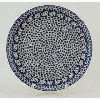 B-Ware Bunzlauer Keramik  flacher Teller, Essteller, Speiseteller, ø 26cm (T132-KOT6)