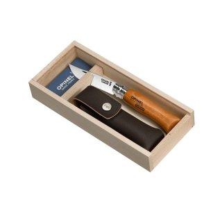 Opinel Taschenmesser No 08, Buche, Carbon, mit Etui