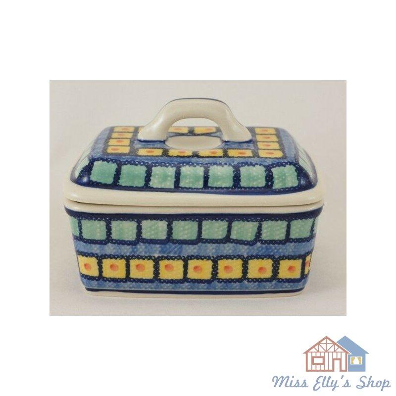 Box für 250g Butter, Bunzlauer Keramik Butterdose M078-54 Butterkästchen