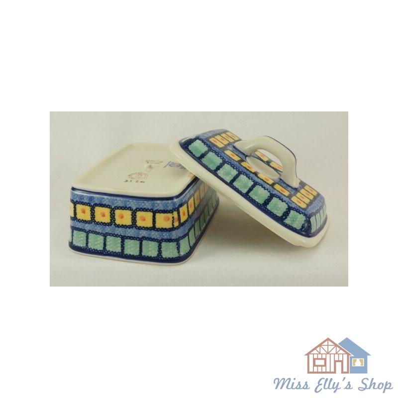 Butterkästchen M078-10 Box für 250g Butter, Bunzlauer Keramik Butterdose