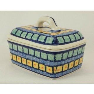Bunzlauer Keramik Butterdose, Butterkästchen, Box für 250g Butter, (M078-10)