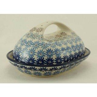 Bunzlauer Keramik Butterdose, für 250g Butter, U N I K A T, (M077-AS55)