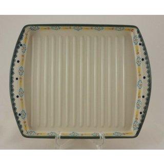 Bunzlauer Keramik Grillteller, Grillplatte für Bacon und Gemüse (P191-IF45)