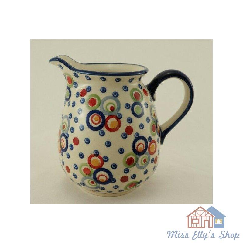 Bunzlauer Keramik Krug; Blumenvase; Milchkrug; 0,9Liter, D041-ASS