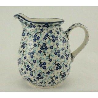 Bunzlauer Keramik Krug; Blumenvase; Milchkrug; 0,9Liter, SIGNIERT (D041-AS45)