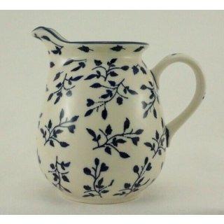 Bunzlauer Keramik Krug; Blumenvase; Milchkrug; 0,9Ltr., Blätterranke (D041-LISK)