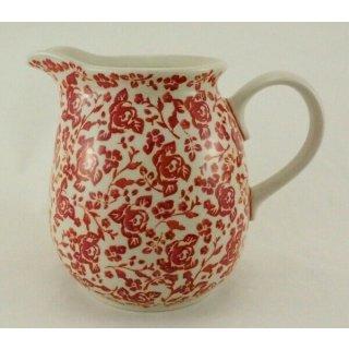 Bunzlauer Keramik Krug; Blumenvase; Milchkrug; 1,4Liter, UNIKAT(D040-GZ32)