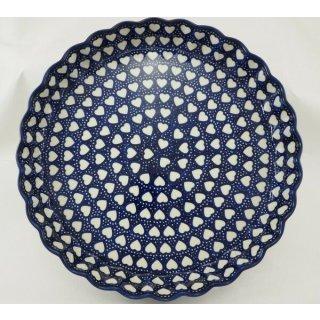 Bunzlauer Keramik Quicheform, Obstkuchen, Auflaufform, Tarteform, Herz, F094-SEM