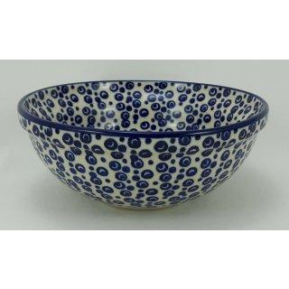 Bunzlauer Keramik Schale MISKA, Müsli, Schüssel, blau/weiß, ø14,5cm, (M089-MAGD)