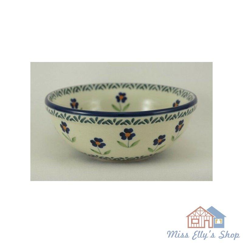 Müsli ø15cm Bunzlauer Keramik Schale MISKA Schüssel,Dekor ASS blau//weiß