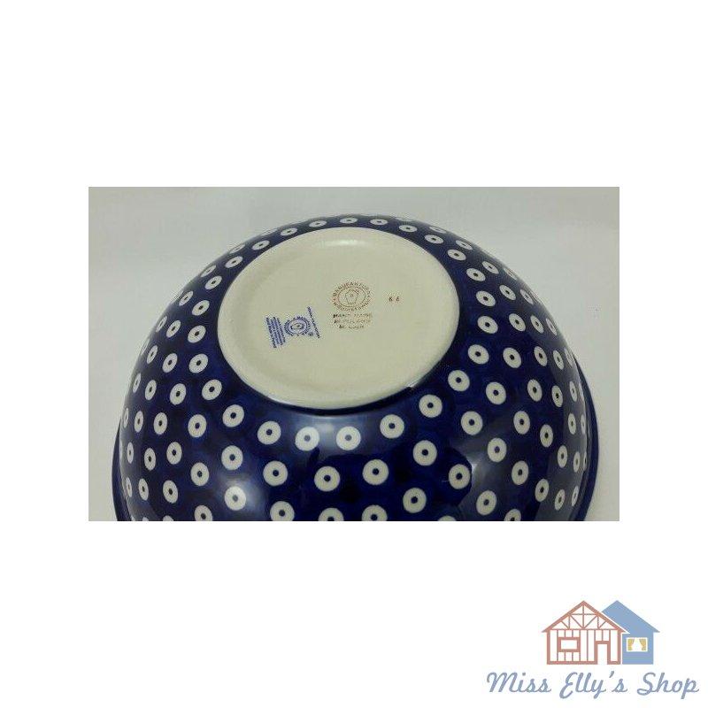 Bunzlauer Keramik Schale MISKA M092-P364 blau//weiß Salat Schüssel ø24cm,