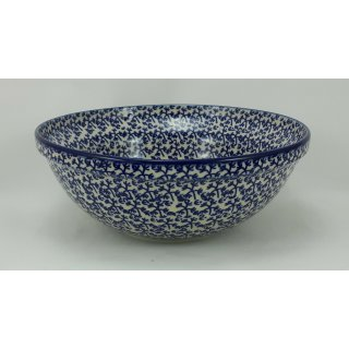 Bunzlauer Keramik Schale MISKA, Schüssel, blau/weiß, Salat, ø24cm, (M092-P364)
