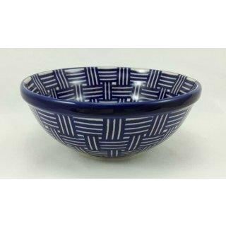 Bunzlauer Keramik Schale MISKA, Schüssel, Gitter, ø17cm (M090-32), V=0,6L UNIKAT