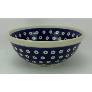 Bunzlauer Keramik Schale MISKA, Schüssel, Salat blau/weiß, ø17cm(M090-70A)V=0,6L