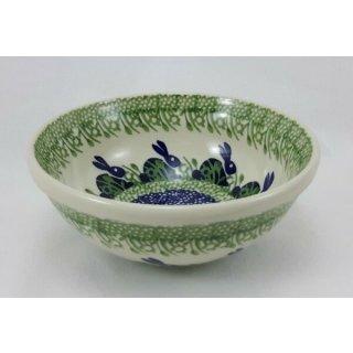 Bunzlauer Keramik Schale MISKA, Schüssel,Müsli, Hasen, ø17cm(M090-P324), V=0,6L