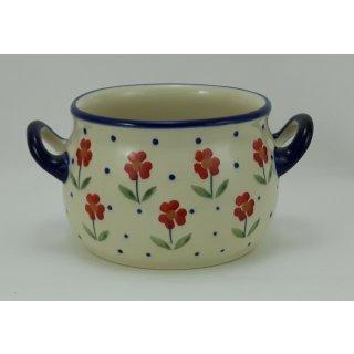 Bunzlauer Keramik Suppentasse 0,3Liter, Dekor AC61, Hitze- und Kältebeständig