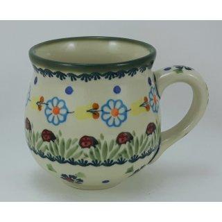 Bunzlauer Keramik Tasse BÖHMISCH - 0,25 Liter, Becher (K090-IF45), Marienkäfer