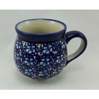Bunzlauer Keramik Tasse BÖHMISCH - Becher - Blumen - 0,25 Liter, (K090-J109)