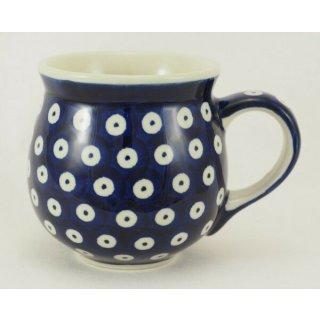 Bunzlauer Keramik Tasse BÖHMISCH - Becher - Punkte - 0,25 Liter, (K090-70A)
