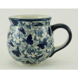 Bunzlauer Keramik Tasse BÖHMISCH - Becher - U N I K A T - 0,25Liter, (K090-AS56)