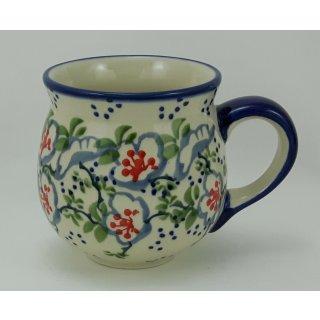Bunzlauer Keramik Tasse BÖHMISCH - Becher - U N I K A T - 0,25Liter, (K090-P372)