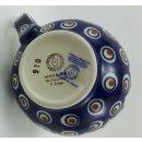 Bunzlauer Keramik Tasse BÖHMISCH MAXI Becher blau/weiß/grün; 0,45 Ltr. (K068-54)