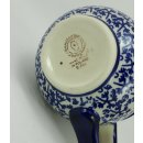 Bunzlauer Keramik Tasse BÖHMISCH MAXI, Becher, blau/weiß; 0,45 Liter (K068-P364)