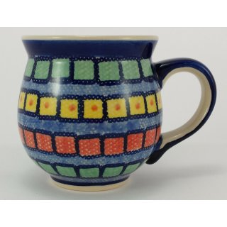 Bunzlauer Keramik Tasse BÖHMISCH MAXI, Becher, bunt; 0,45 Liter - (K068-10)