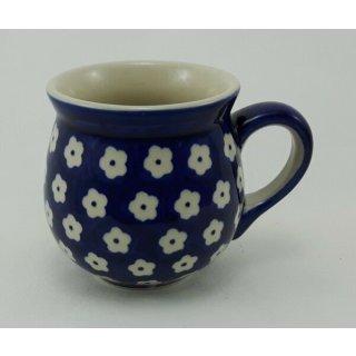 Bunzlauer Keramik Tasse BÖHMISCH MINI, Becher, blau/weiß 0,18 Liter, (K067-70M)