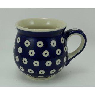 Bunzlauer Keramik Tasse BÖHMISCH MINI, Kugelbecher, Punkte - 0,18Ltr, (K067-70A)