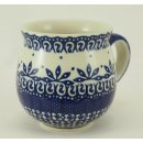 Bunzlauer Keramik Tasse BÖHMISCH, Becher - runde Form - 0,3 Liter, (K090-WA)